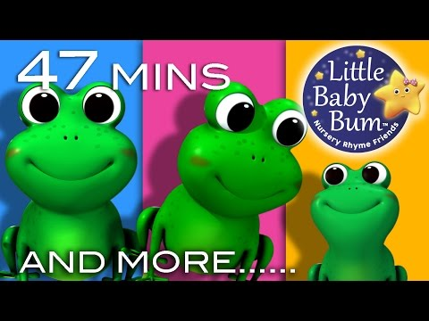 Five Little Speckled Frogs | Plus Lots More Nursery Rhymes | 47 Mins Compilation from LittleBabyBum