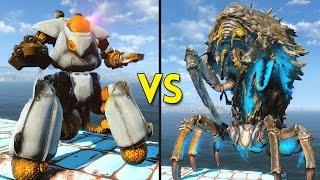 Fallout 4 -  10 NUKALURK QUEENS vs 15 STARTENDERS - Battles #52