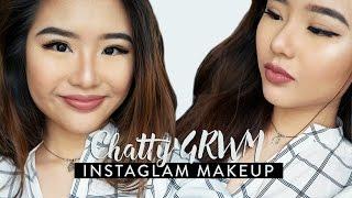 Chatty GRWM | Instaglam Makeup (Kylie Jenner Inspired + Baking!)