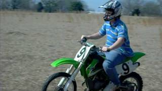 me with a dildo up  my ass riding a dirt bike