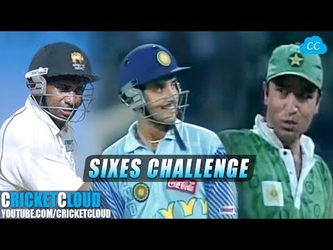 Ganguly Anwar Jayasuriya 2 3 4 SIXES IN A ROW CHALLENGE Please comment your Fav