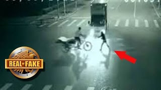 ANGEL SAVES MAN FROM NEAR DEATH - real or fake