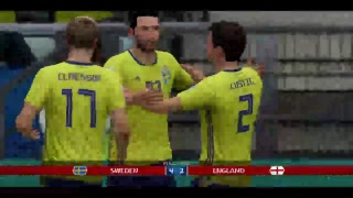 PS4 FIFA 18 Gameplay Sweden vs England [HD]