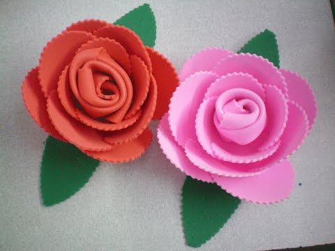 Flores de EVA sem usar cola