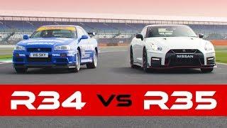R34 Skyline GT-R Vs 2018 GT-R Nismo: Old Vs New Drag Race