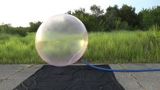 Over Inflating the Super Wubble Bubble Ball Until Pop