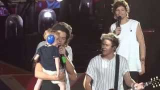 One Direction and a toddler