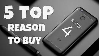 Xiaomi Redmi 4 India - 5 SOLID Reason To Buy This Phone | Redmi 4 Pros
