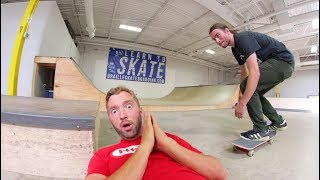 """DO YOU TRUST ME"" SKATE CHALLENGE! (Ollie Over Face To Grind!)"