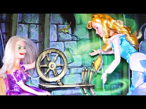 Story for Kids w/ Toys & Dolls - SLEEPING BEAUTY Kid-Friendly Family Fun w/ Disney Princess & Barbie