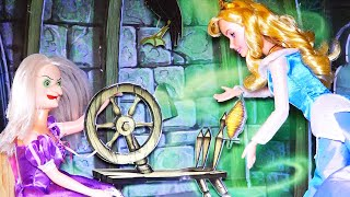 Story Time! SLEEPING BEAUTY Fairy Tale With Disney Princess and Barbie Dolls - Kid-friendly