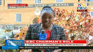 IEBC chairman's role in the October 26 election
