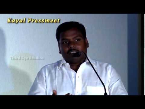 This film tells the importance of water  Yugabharathi Speech  Kayal  Launch & Press Meet