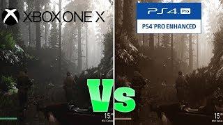 Call Of Duty: WWII Graphics Comparison: Xbox One X Vs PS4 Pro