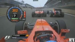 F1 Double Overtakes Onboard Compilation #2