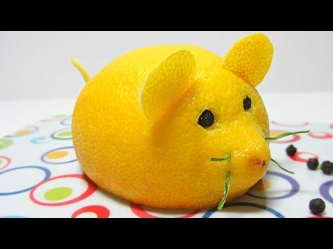 Cocina Cómo hacer un ratón limón. Mouse lemon.