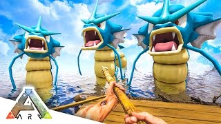 GYARADOS ATTACK! - ARK SURVIVAL EVOLVED POKEMON MOD #6