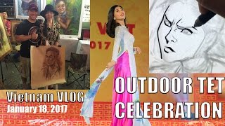 January 18, 2017 Vietnam VLOG: Scenes of TET and Ao Dai dresses in Saigon