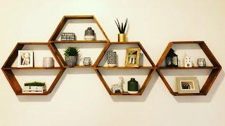 Hexagon Shelves, Make Your Own Modern Shelves