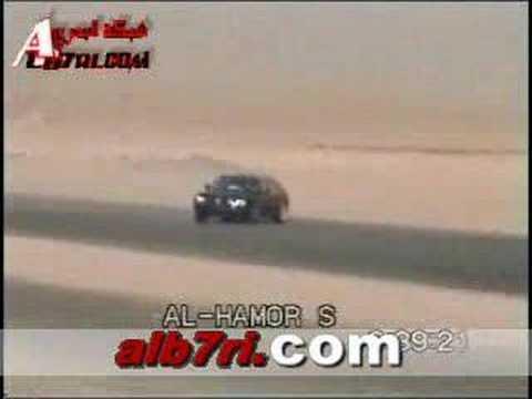 2006 BMW 750 drift & crash KSA