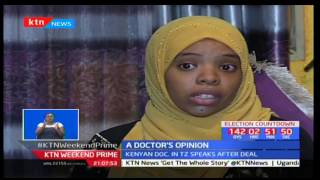 Dr Hafsa Mohamed from Tanzania reacts to president Pombe Magufuli