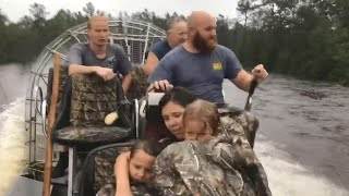 Pregnant Woman Clings to Tree to Escape Rising North Carolina Floodwaters