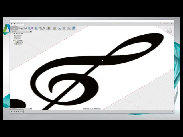 Tutorial para aprender a diseñar un llavero en forma de clave de sol con Fusion 360.