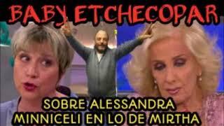 BABY ETCHECOPAR - SOBRE LA MUJER DE JULIO DE VIDO EN LO DE MIRTHA LEGRAND