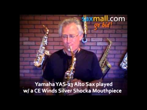 Saxmall.com Yamaha YAS-23 Alto Saxophone Sax played with a CE Winds Silver Shocka Mouthpiece
