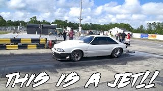 STREET OUTLAWS CHUCK MAKES A INSANELY FAST PASS AT NORTH MYRTLE BEACH DRAG STRIP IN THE DEATH TRAP!