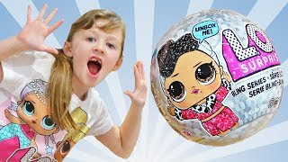 LOL Dolls BLING Series Kids playing with toys by Ava Isla and Olivia