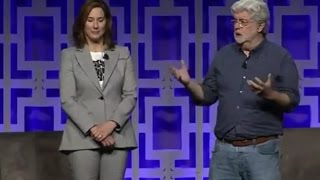 Carrie Fisher Tribute John WIlliams George Lucas - Star Wars Celebration 2017