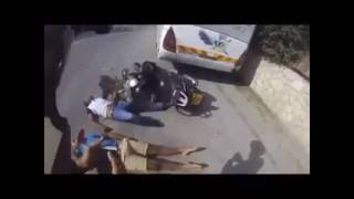 الشرطه الاسرائيليه مطاردة دراجة نارية ونهاية مأساويه