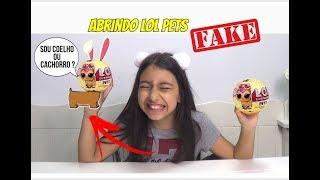ABRINDO LOL PETS SURPRESA  FAKE - METADE COELHO METADE CACHORRO !!! - Julia Moraes