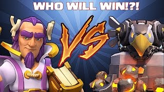 Clash Of Clans - GRAND WARDEN VS. EAGLE ARTILLERY!! (Extra Footage of new hero and weapons)
