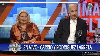 Elisa Carrió y Horacio Rodríguez Larreta en