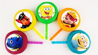 Vanz Toys Winnie The Pooh Cookie Cutters Play Doh Lollipop SpongeBob Finding Dory Minions Paw Patrol