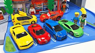 Best Toddler Learning Cars Trucks Colors for Kids #1 Teaching Colours Tomica Highway Busy Drive