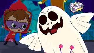 Hello Its Halloween | Bottle Squad | Scary Rhymes For Kids | Halloween Rhymes | Superhero Videos