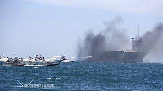 Iranian Ships Fire Rockets as U.S. Warship Enters Persian Gulf