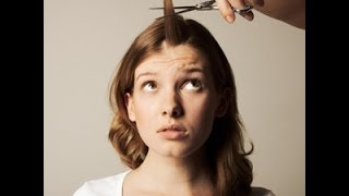 How to trim your bangs like a boss