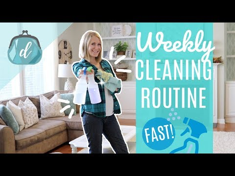 CLEAN MY WHOLE HOUSE WITH ME! 💙 Fast & Organized Weekly Cleaning Routine Motivation