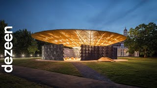 Serpentine Pavilion glows at night to