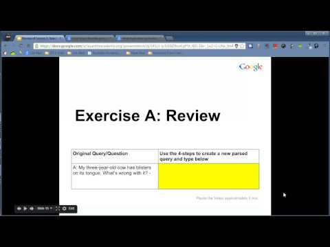 Google Search Education - Lesson 1 Picking the Right Search Terms