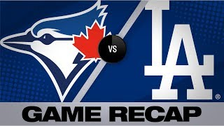 Dodgers hammer 5 homers to defeat Blue Jays   Blue Jays-Dodgers Game Highlights 8/20/19