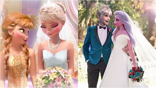 Elsa Marries Jack ! Anna Marries Kristoff ! Jack is the new King  ! Frozen Wedding Kiss Parody