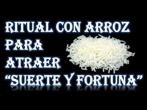 RITUAL CON ARROZ PARA ATRAER SUERTE Y FORTUNA
