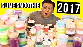 HUGE SLIME SMOOTHIE OF ALL MY 2017 SLIMES!!! 💦 MIXING MY SLIME COLLECTION!!! 💦