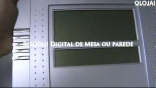 Relógio Digital de Parede e Mesa com Termômetro e Despertador qloja