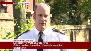 London Fire: Met Police confirms 12 people have died  - BBC News